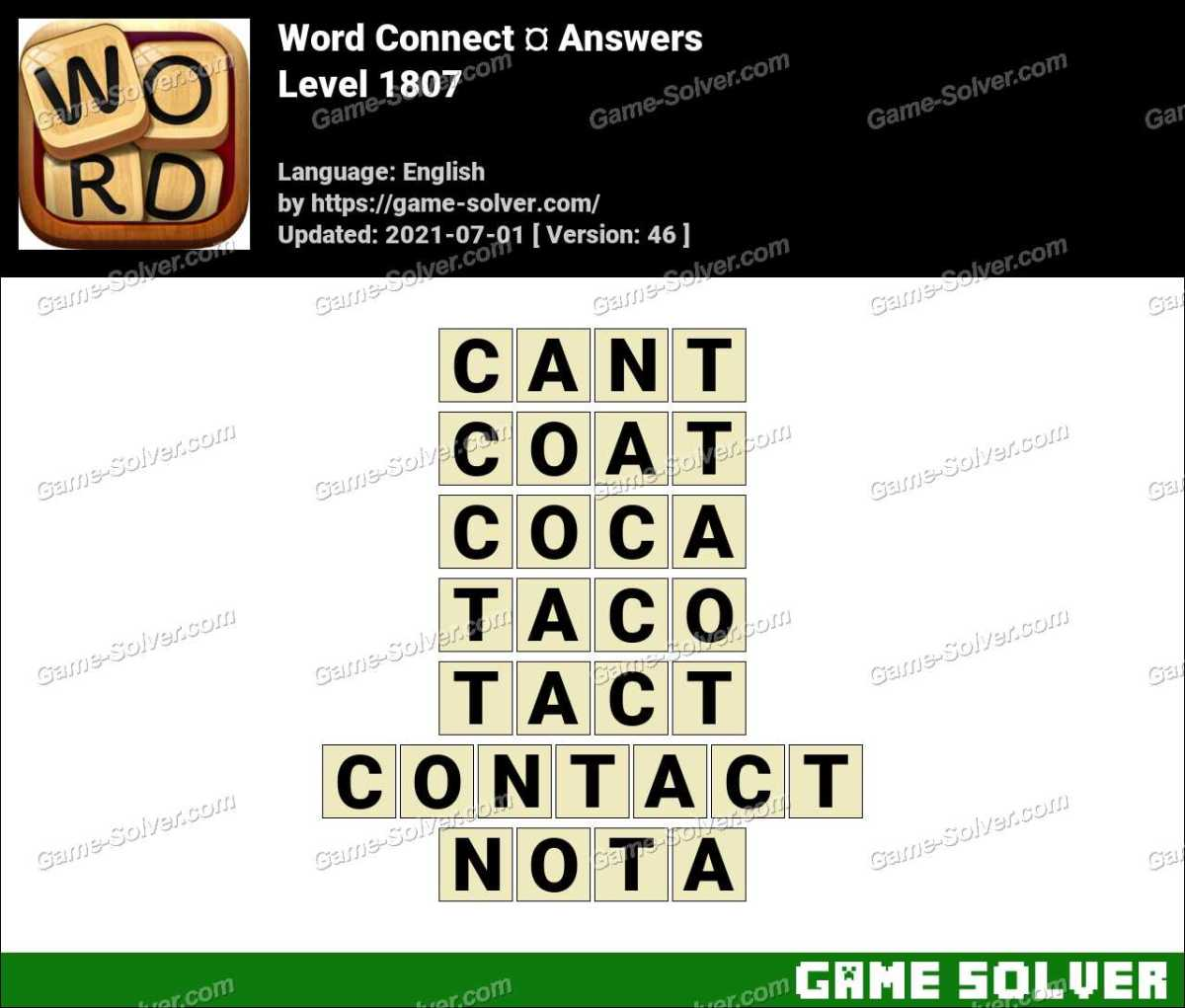 Word Connect Level 1807 Answers