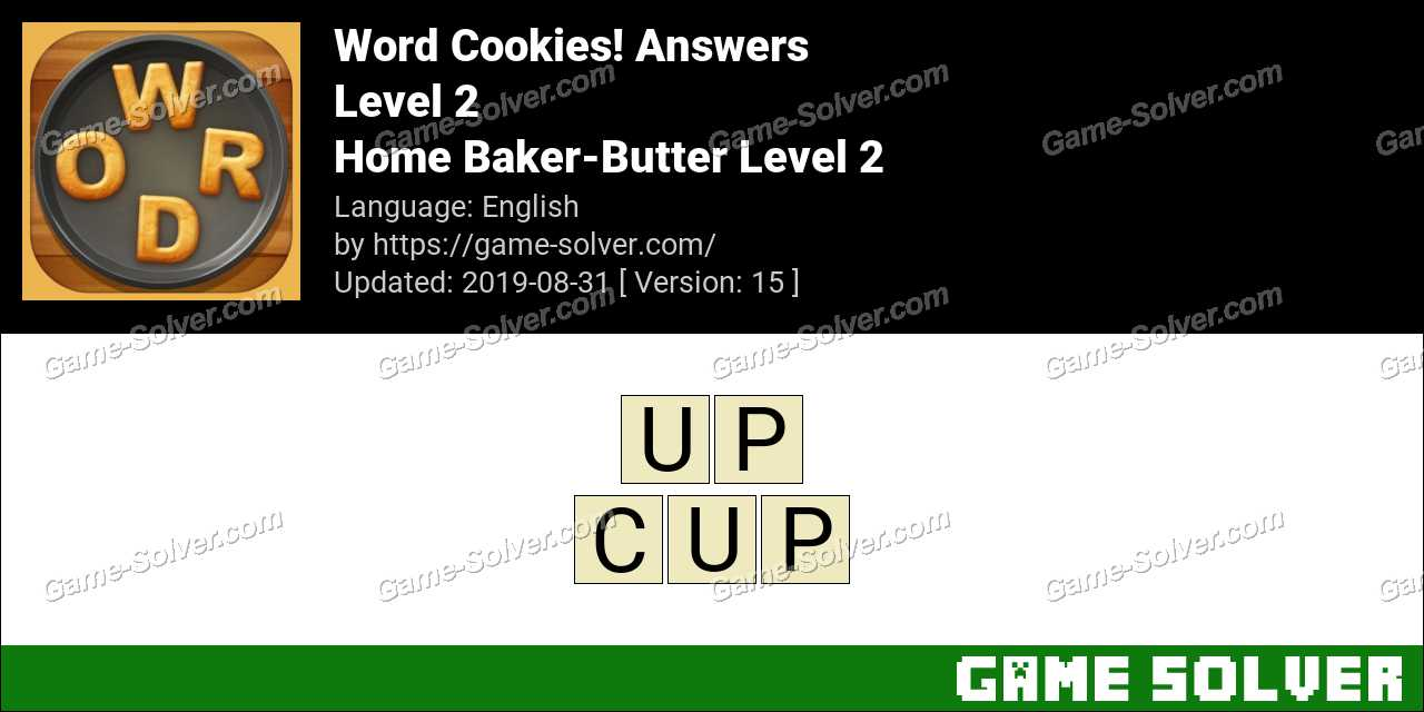 Word Cookies Home Baker-Butter Level 2 Answers