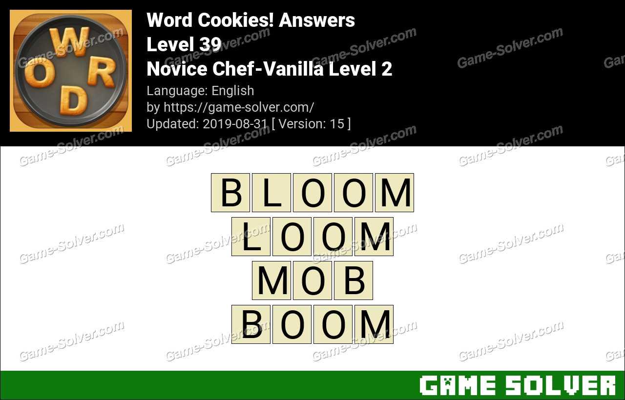 Word Cookies Novice Chef-Vanilla Level 2 Answers