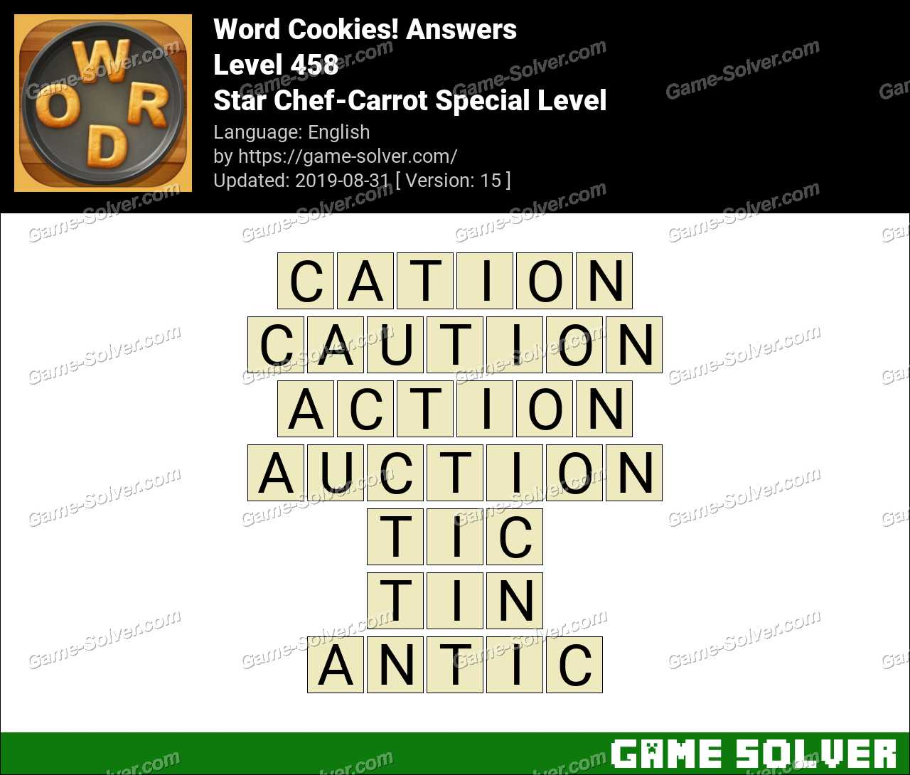 Word Cookies Star Chef-Carrot Special Level Answers