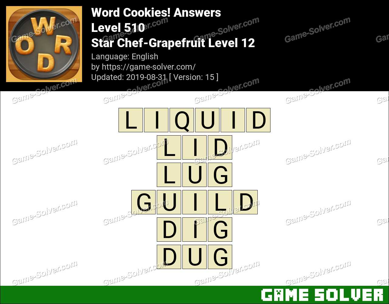 Word Cookies Star Chef-Grapefruit Level 12 Answers