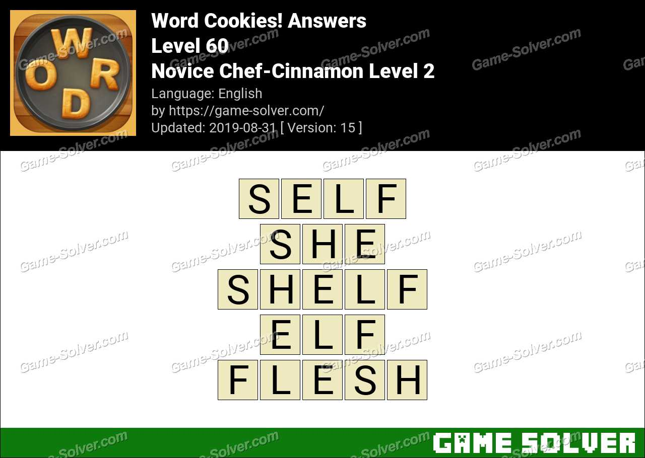 Word Cookies Novice Chef-Cinnamon Level 2 Answers