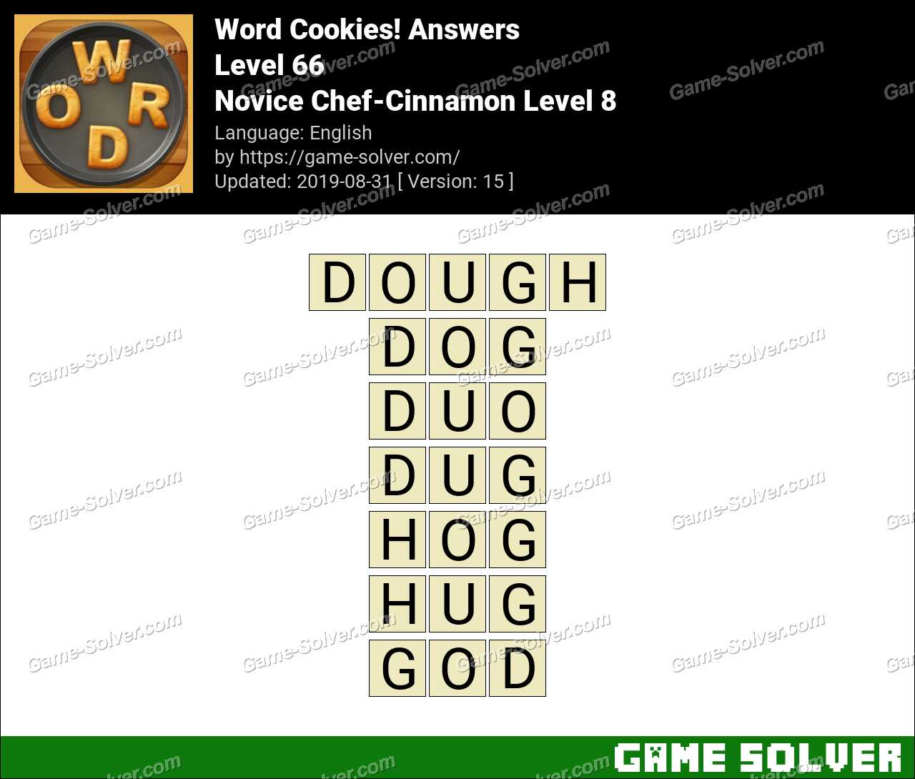 Word Cookies Novice Chef-Cinnamon Level 8 Answers