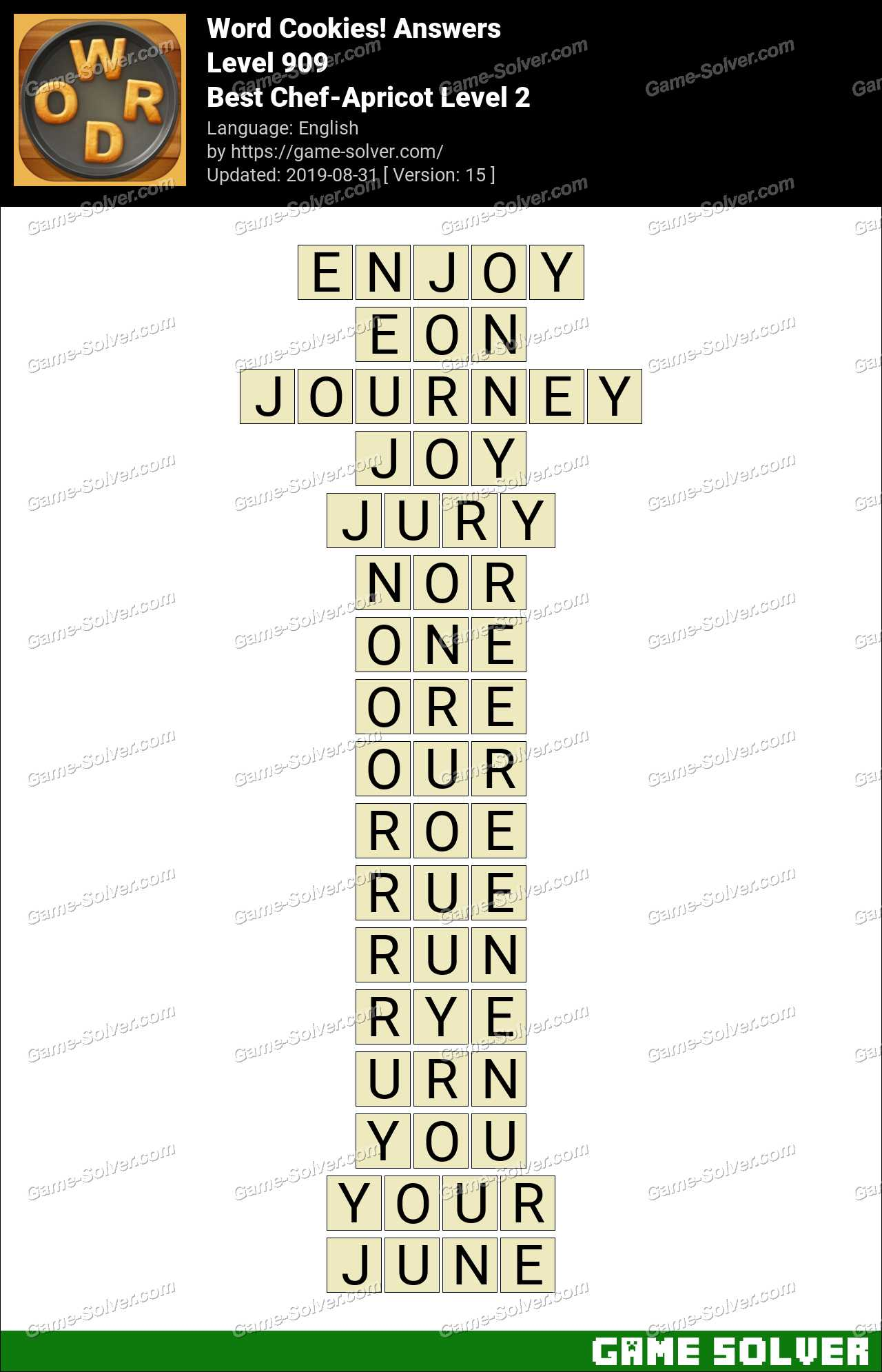 Word Cookies Best Chef-Apricot Level 2 Answers