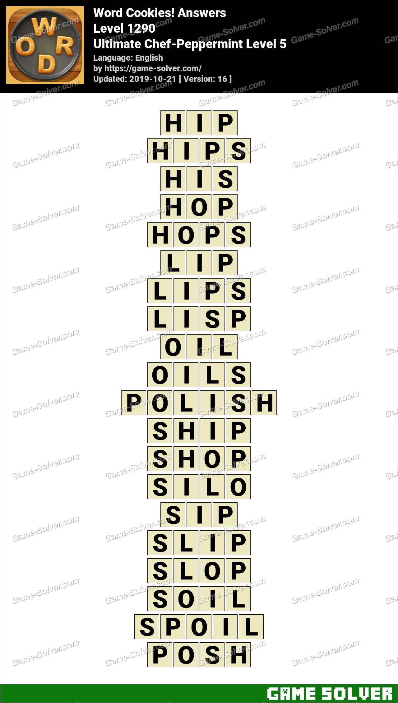 Word Cookies Ultimate Chef-Peppermint Level 5 Answers