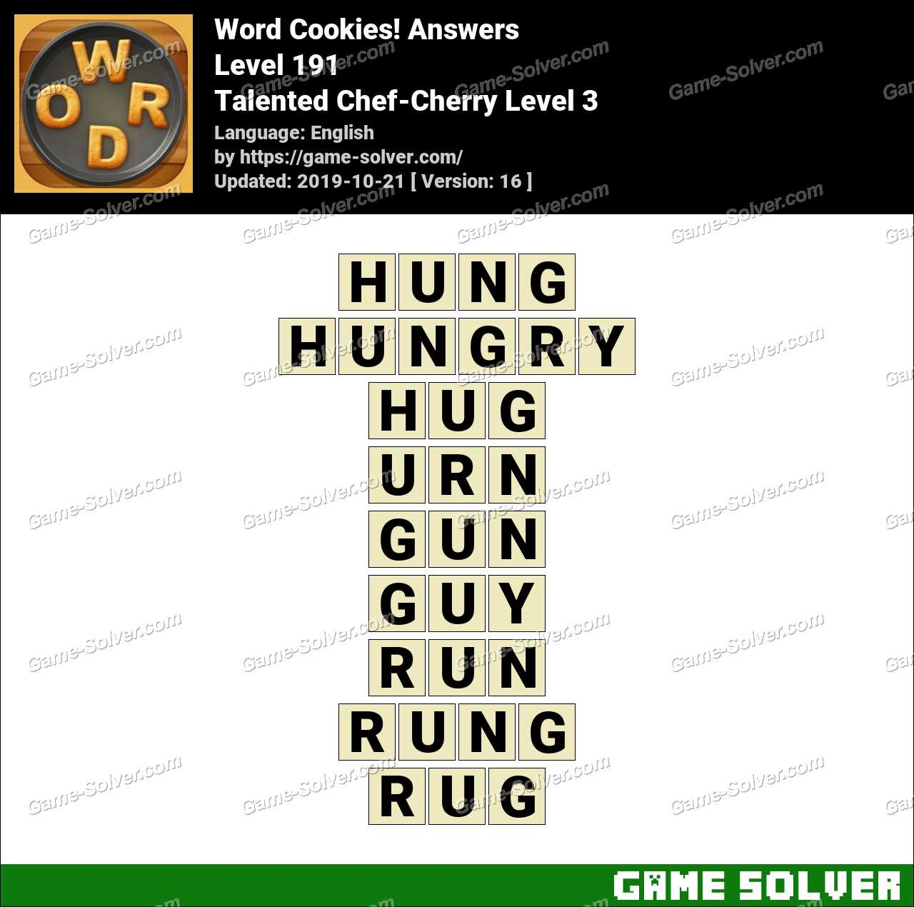 Word Cookies Talented Chef-Cherry Level 3 Answers
