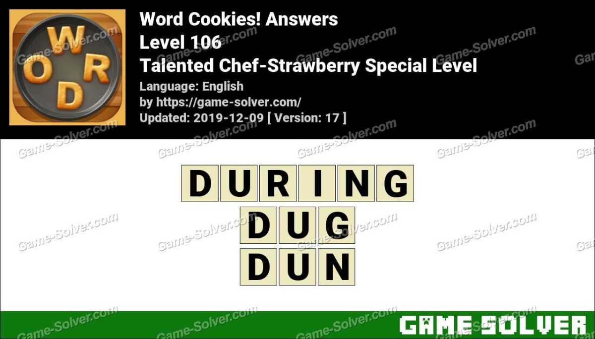 Word Cookies Talented Chef-Strawberry Special Level Answers