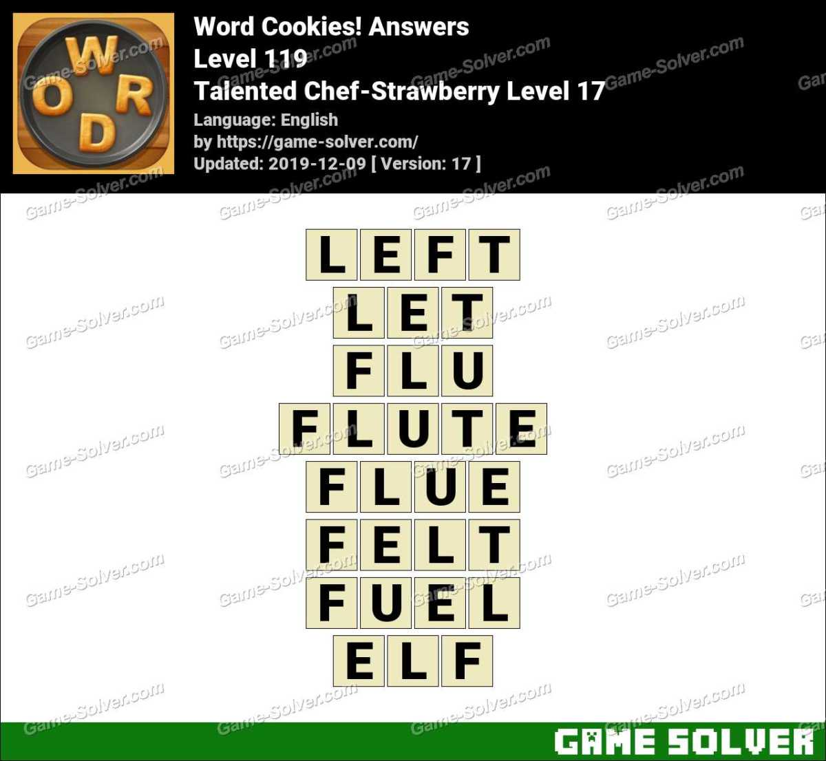 Word Cookies Talented Chef-Strawberry Level 17 Answers
