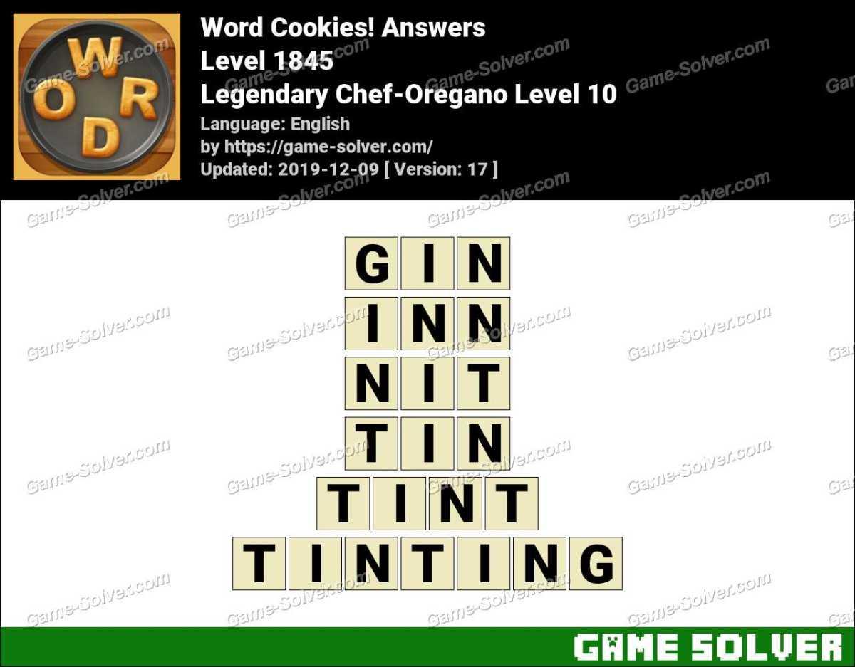 Word Cookies Legendary Chef-Oregano Level 10 Answers