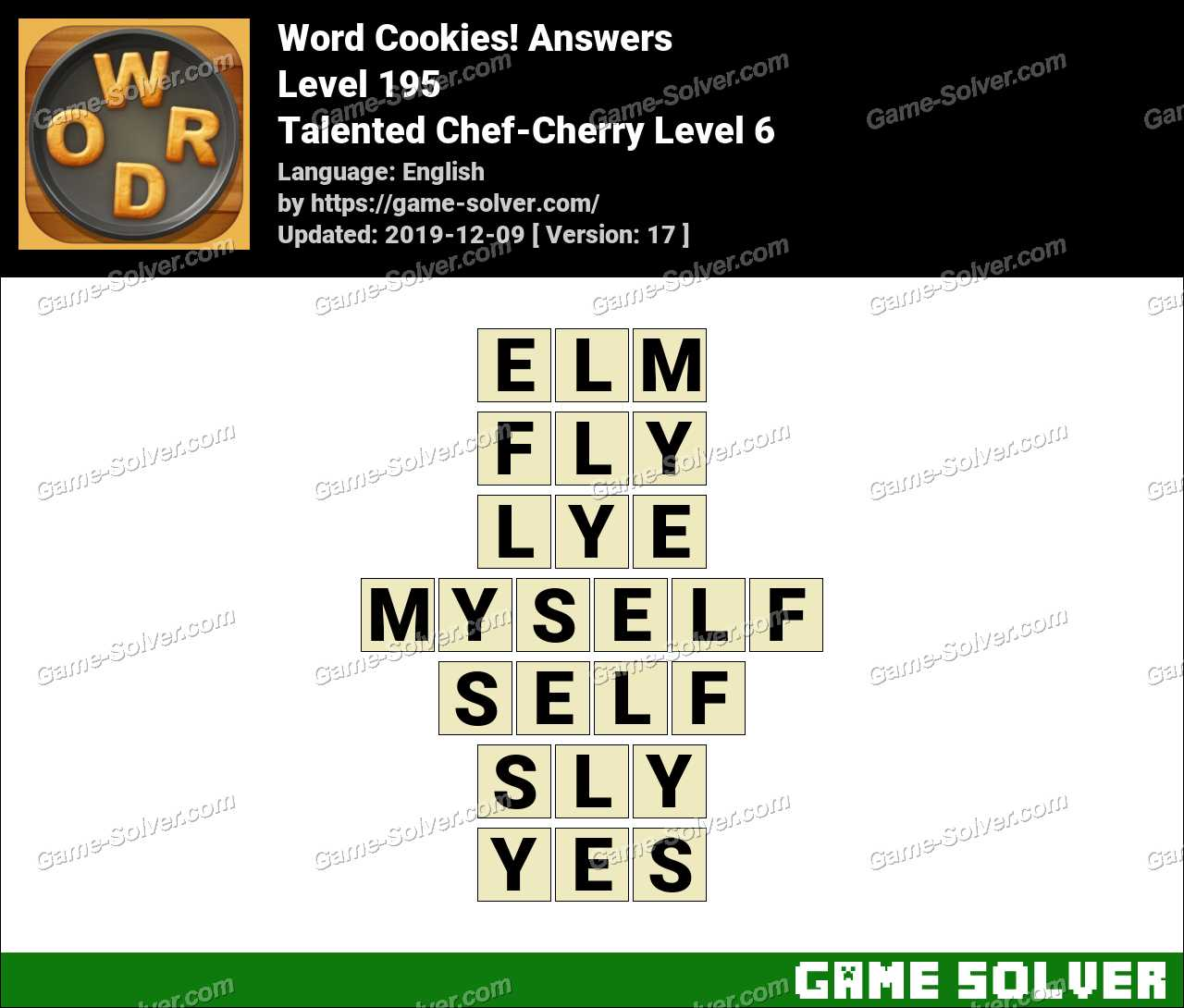 Word Cookies Talented Chef-Cherry Level 6 Answers