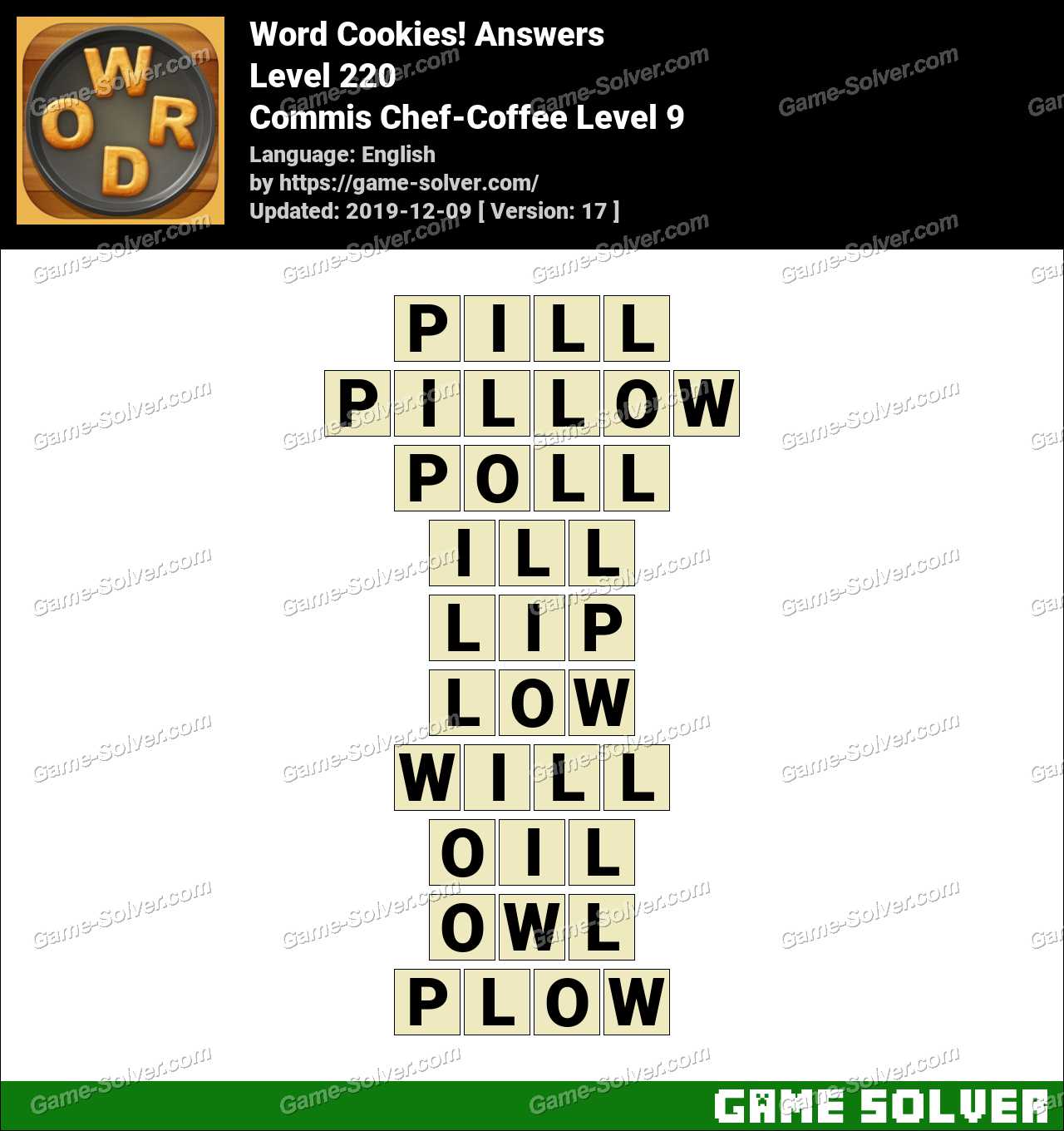 Word Cookies Commis Chef-Coffee Level 9 Answers