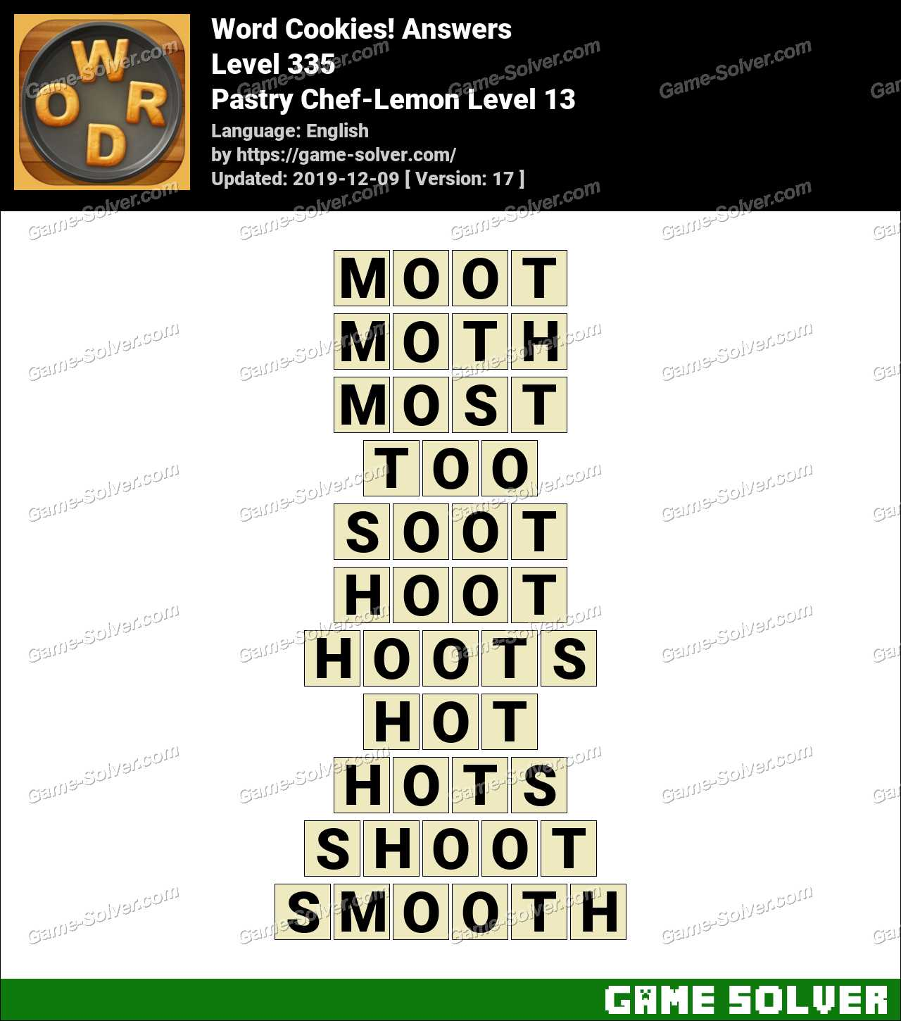 Word Cookies Pastry Chef-Lemon Level 13 Answers