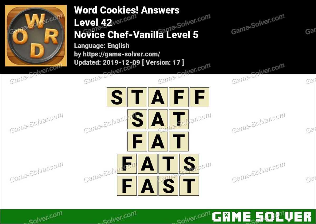Word Cookies Novice Chef-Vanilla Level 5 Answers