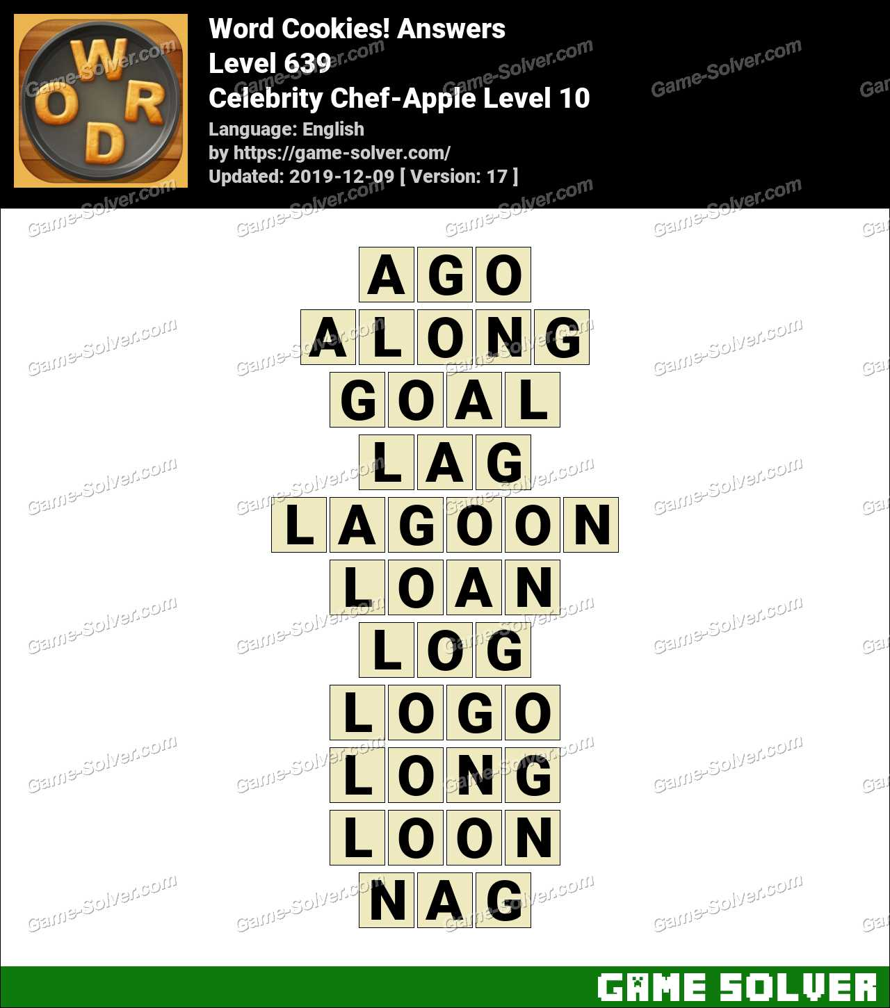 Word Cookies Celebrity Chef-Apple Level 10 Answers