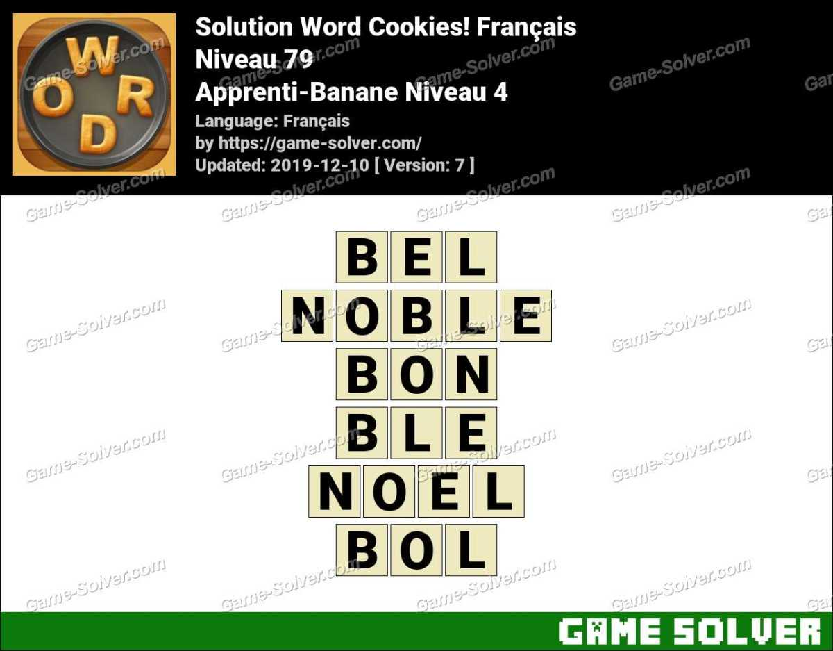 Solution Word Cookies Apprenti-Banane Niveau 4