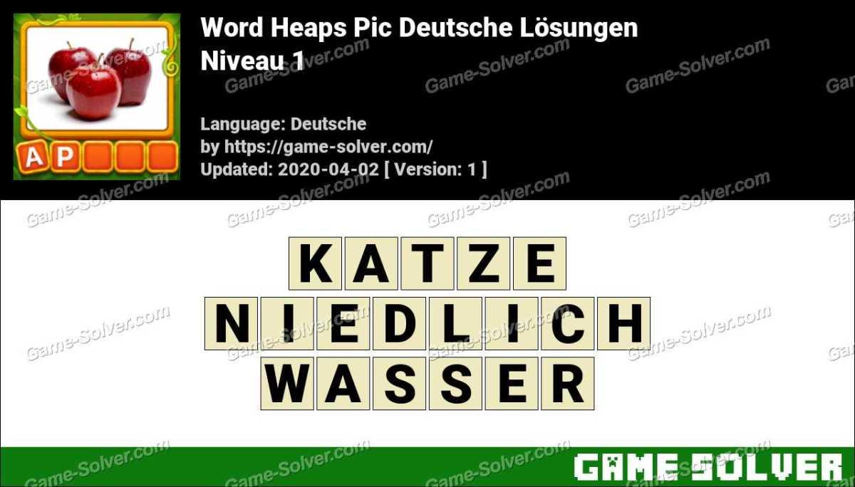 Word Heaps Pic Puzzle Niveau 1