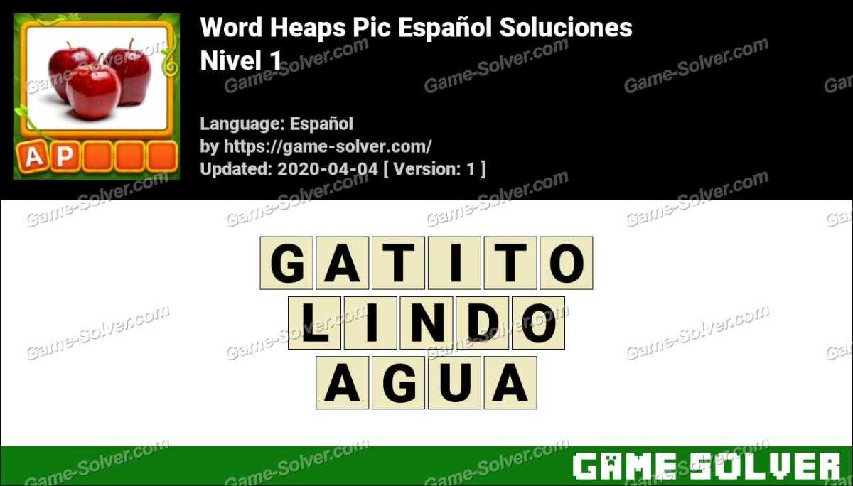 Word Heaps Pic Puzzle Nivel 1