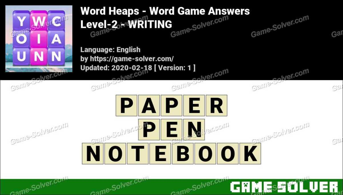 Word Heaps Level-2 -WRITING