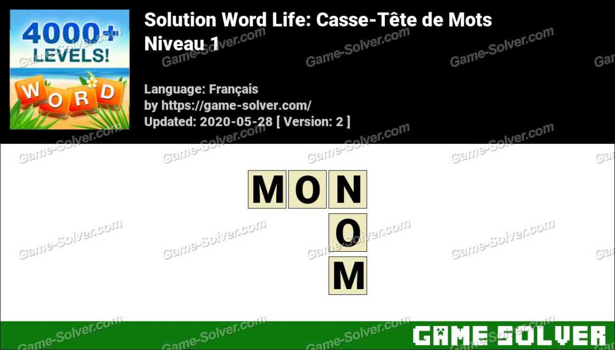 Solution Word Life Niveau 1