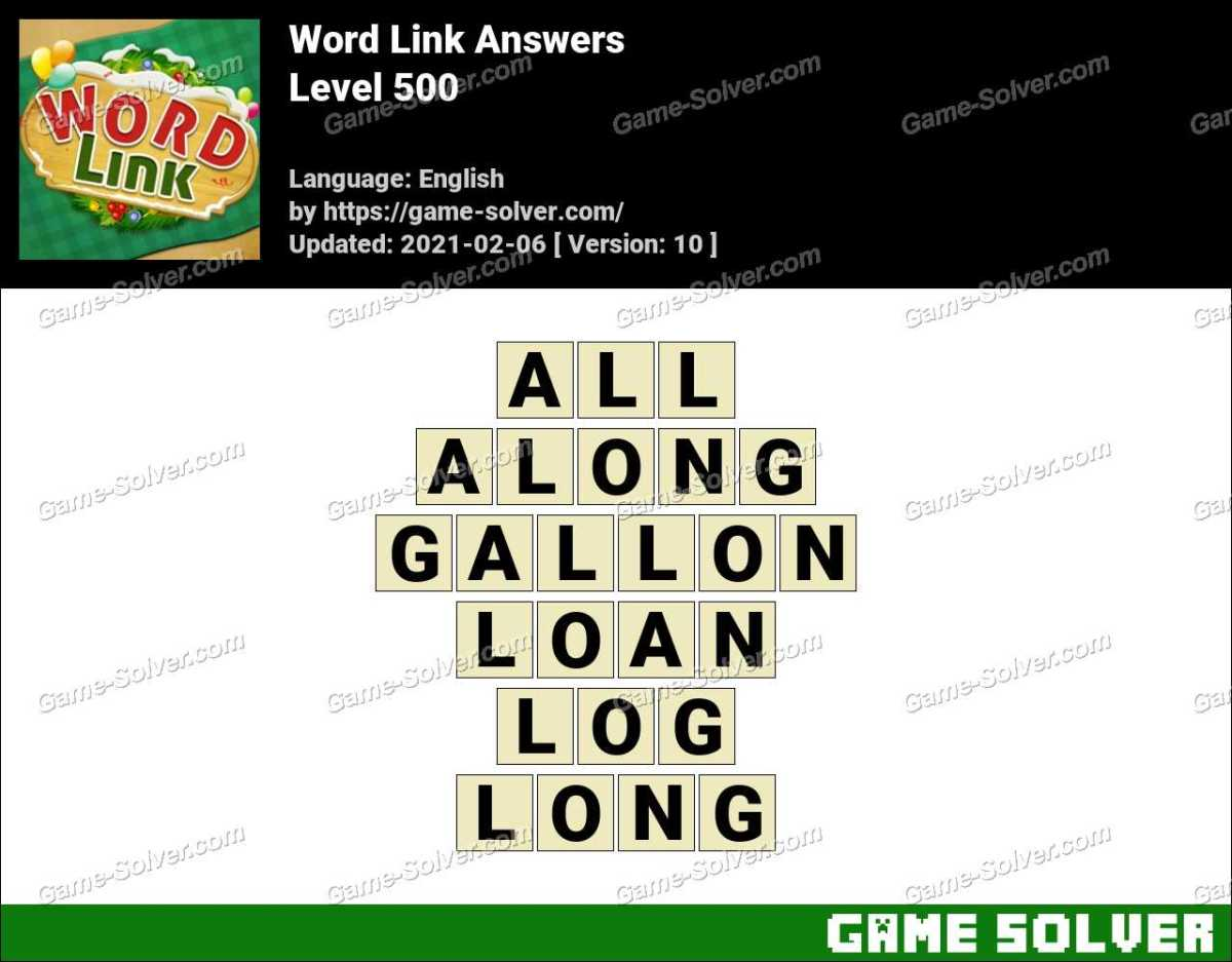 Word Link Level 500 Answers