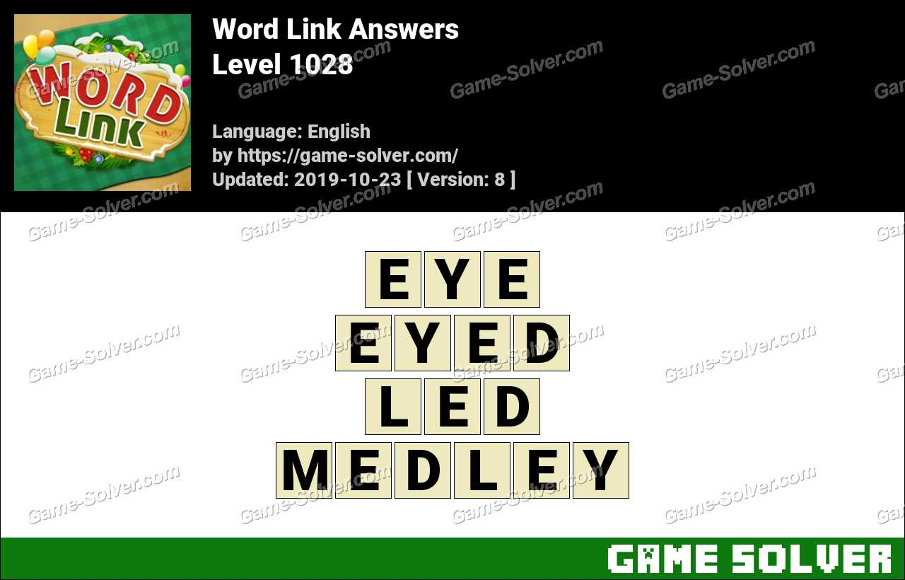 Word Link Level 1028 Answers