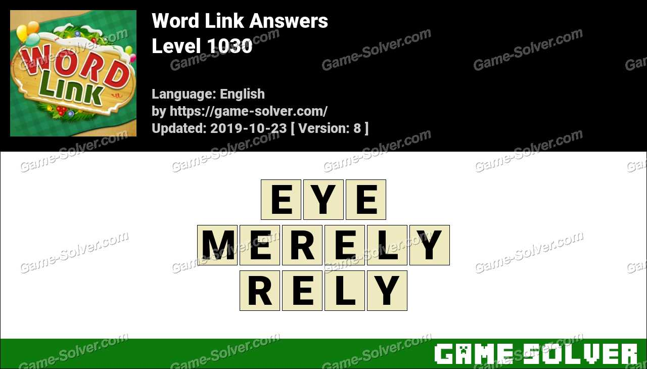 Word Link Level 1030 Answers
