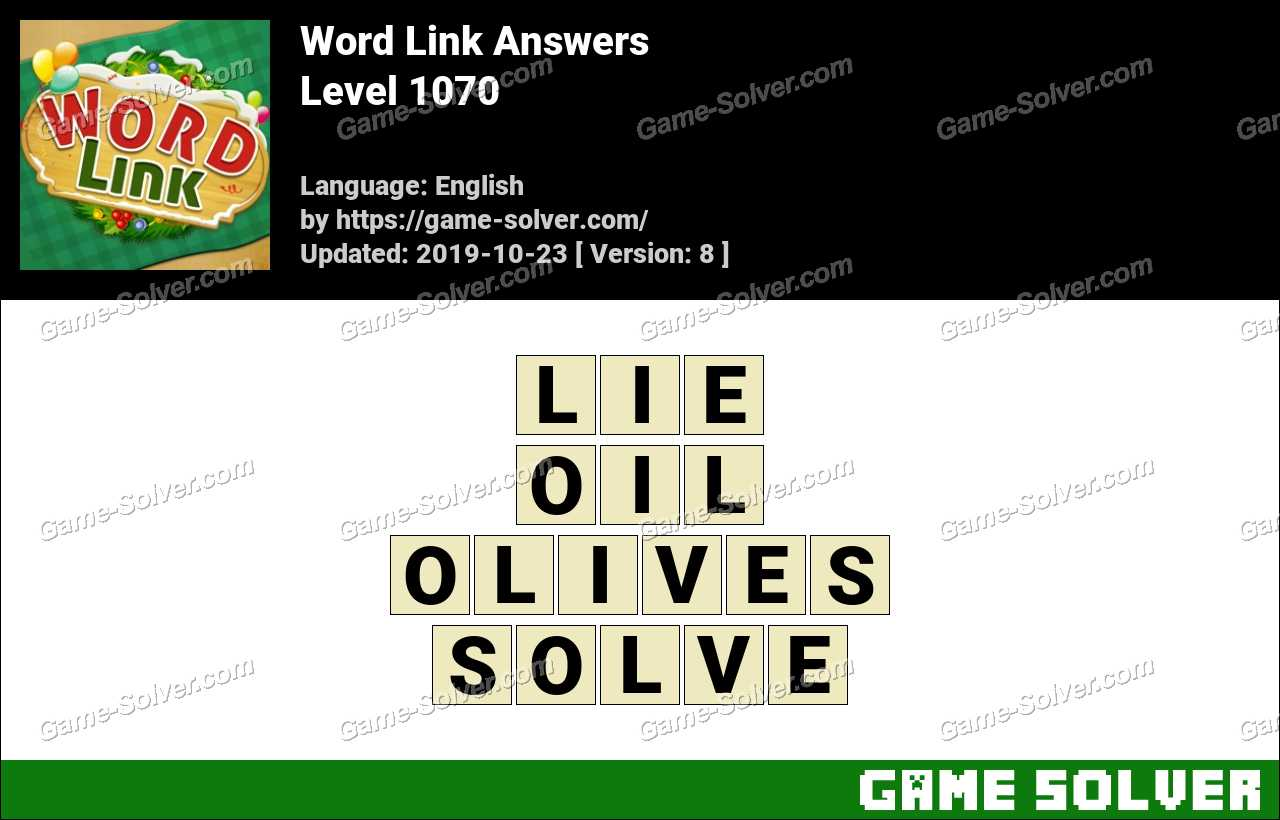 Word Link Level 1070 Answers
