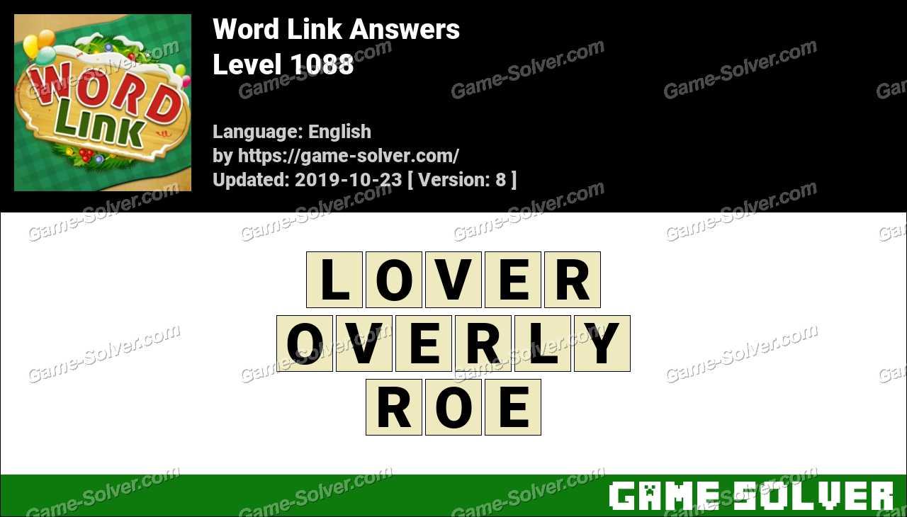 Word Link Level 1088 Answers