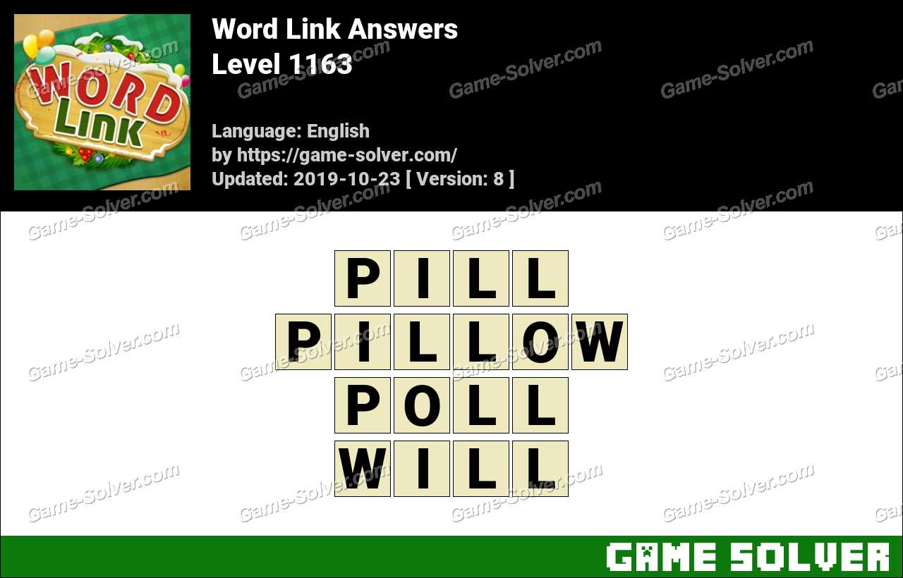 Word Link Level 1163 Answers