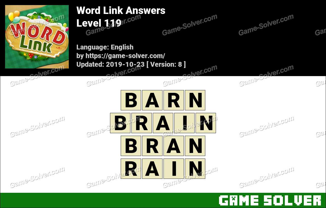 Word Link Level 119 Answers
