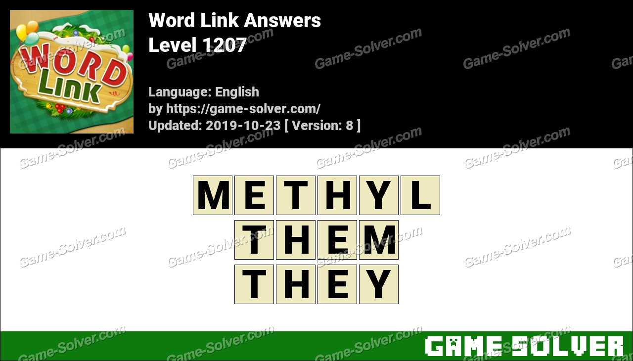 Word Link Level 1207 Answers