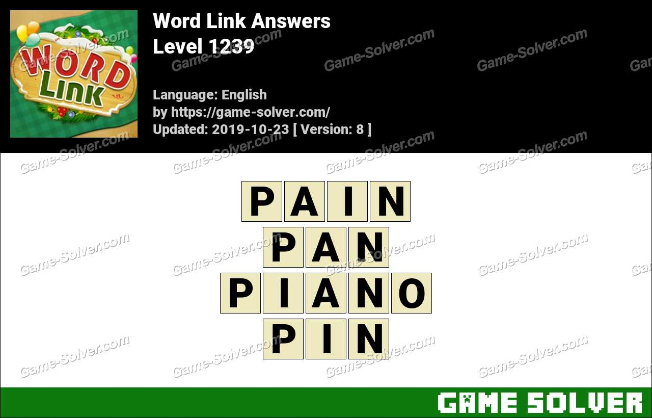 Word Link Level 1239 Answers