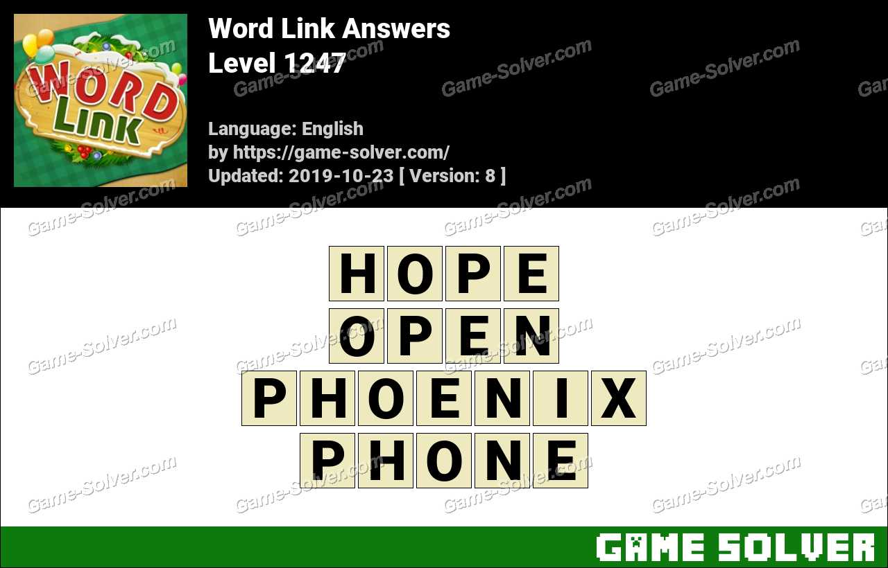 Word Link Level 1247 Answers