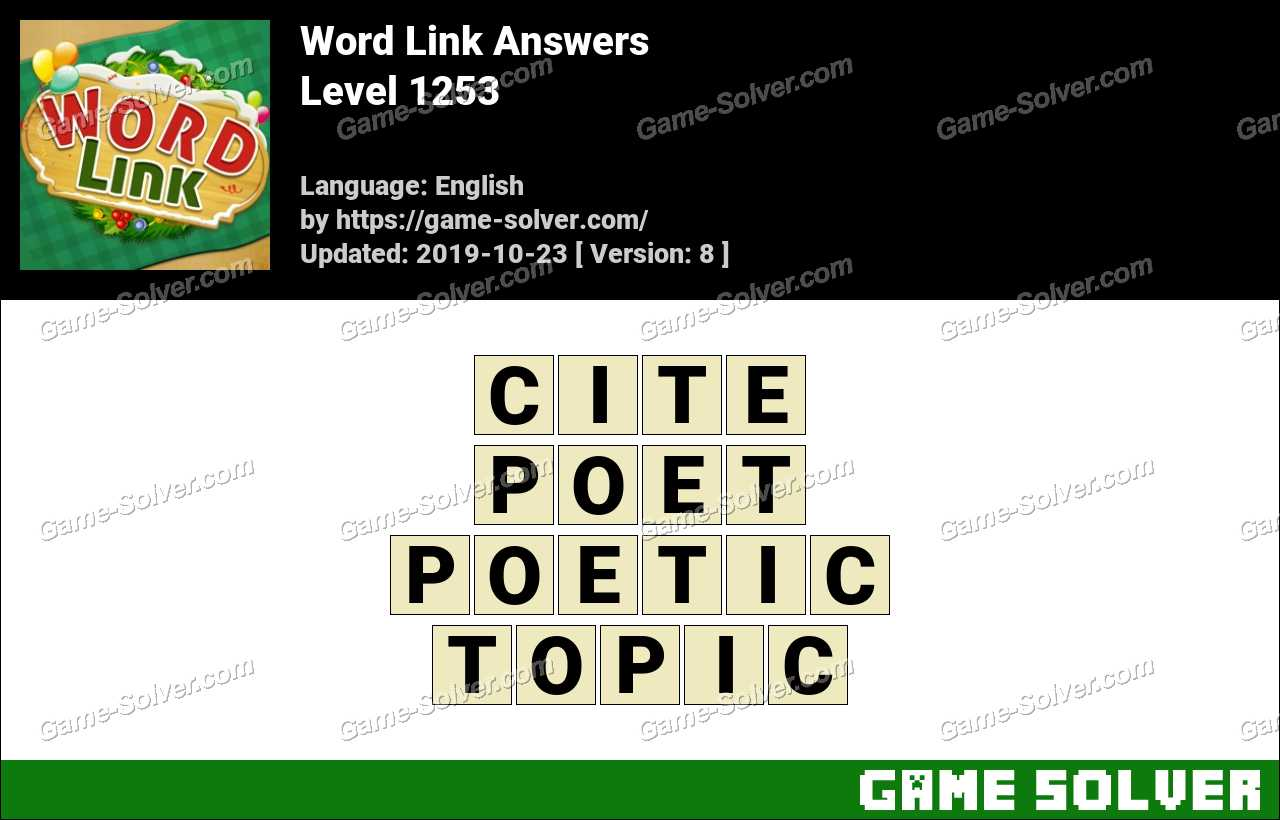 Word Link Level 1253 Answers
