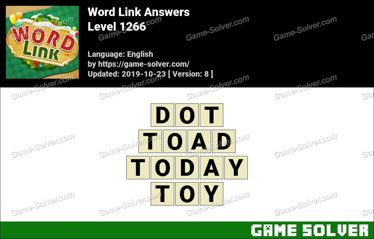 Word Link Level 1266 Answers