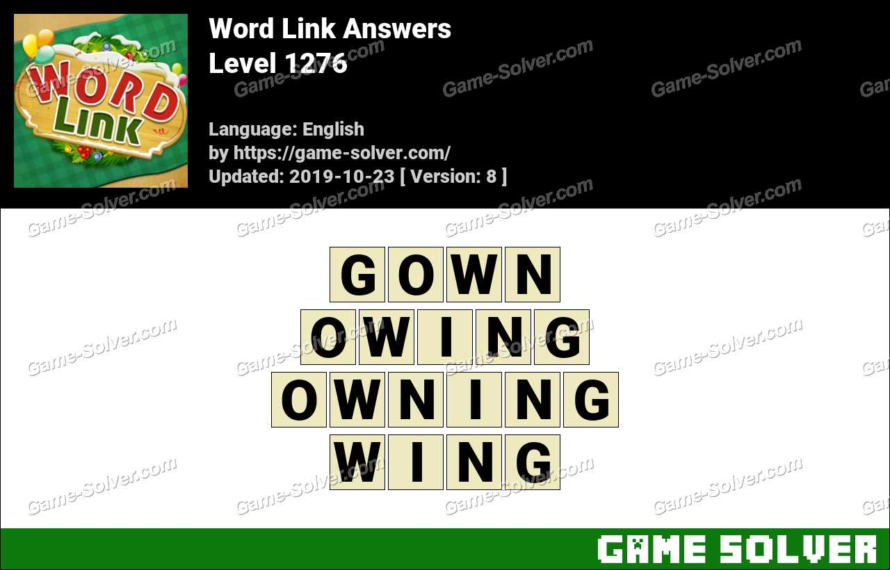 Word Link Level 1276 Answers