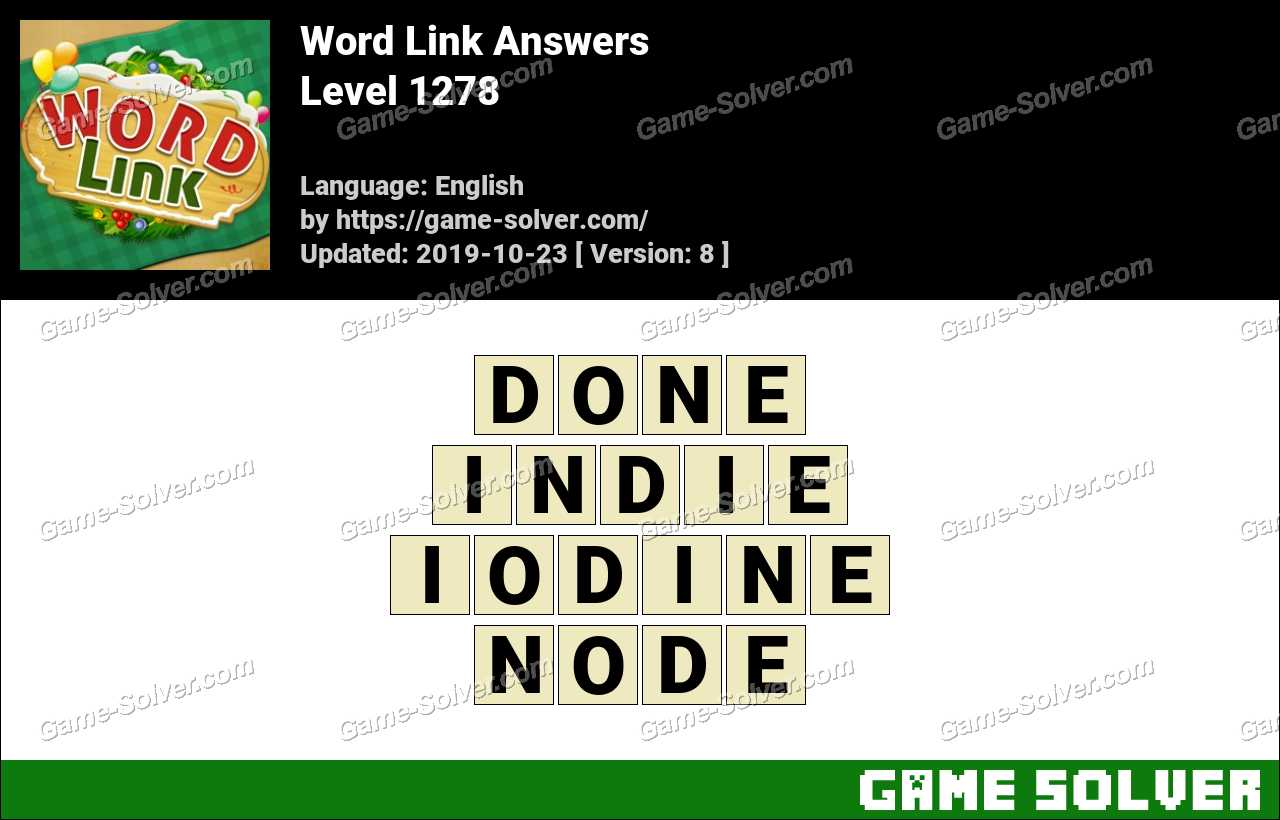 Word Link Level 1278 Answers