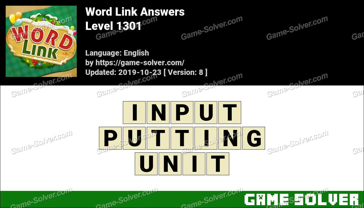 Word Link Level 1301 Answers