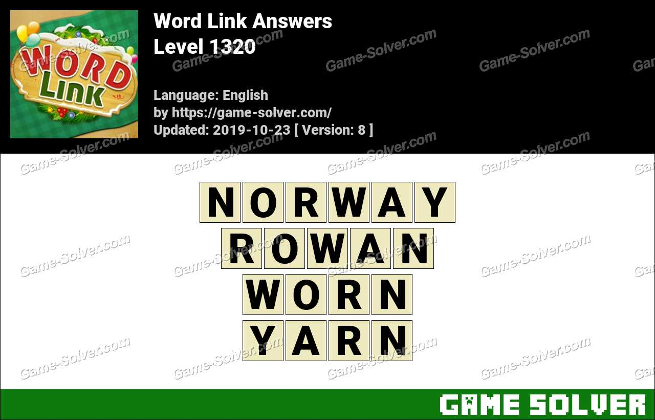 Word Link Level 1320 Answers