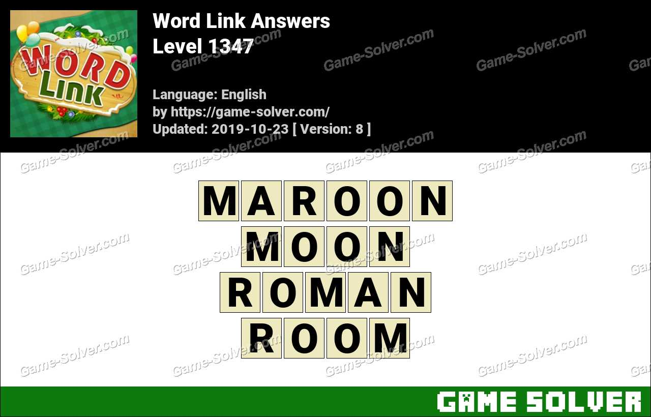 Word Link Level 1347 Answers