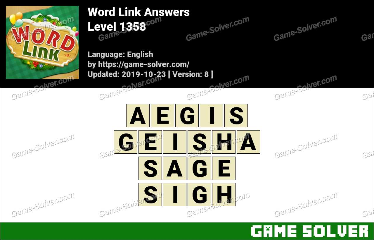 Word Link Level 1358 Answers