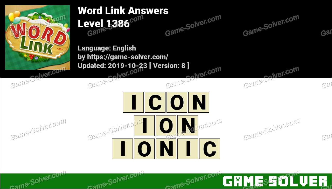 Word Link Level 1386 Answers