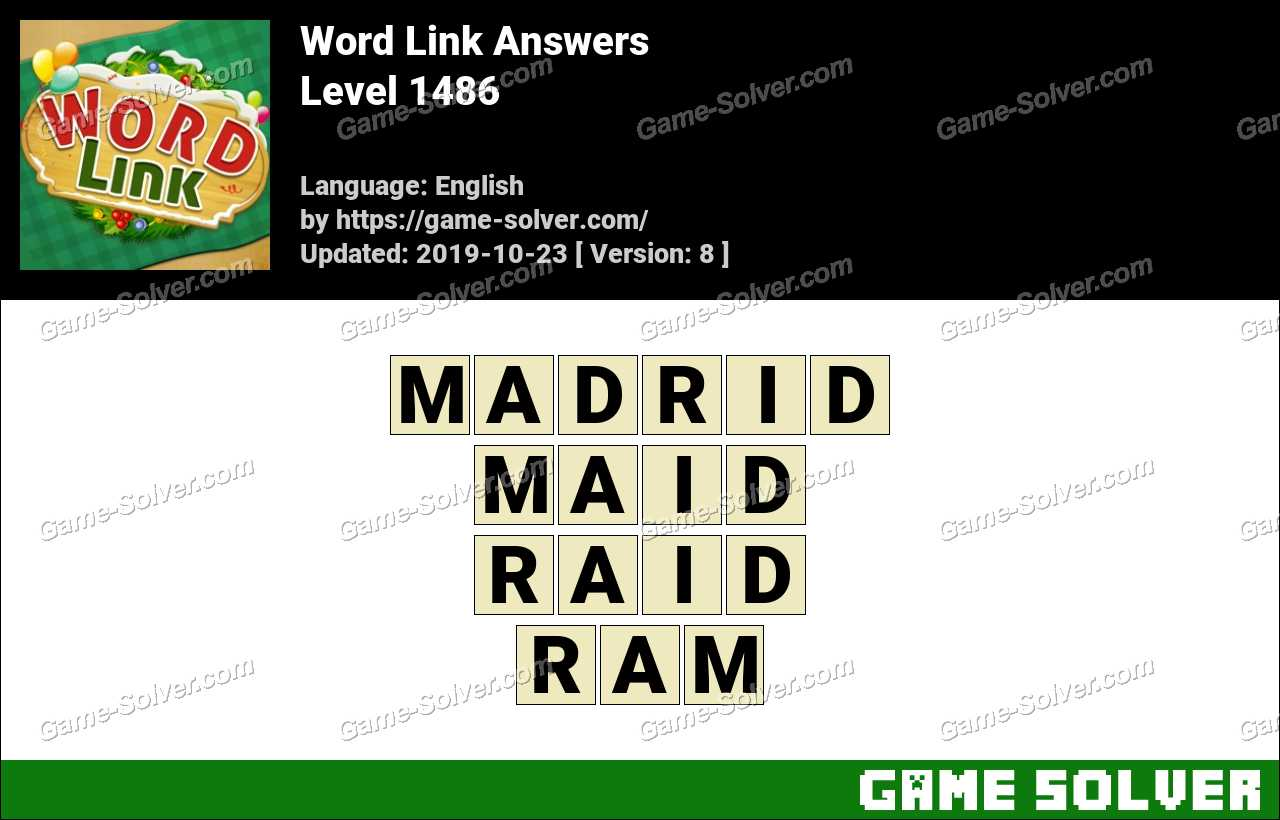 Word Link Level 1486 Answers