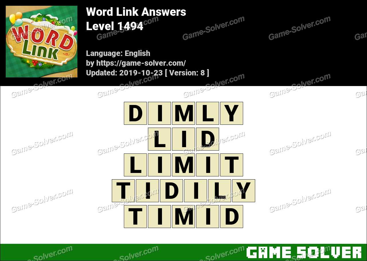 Word Link Level 1494 Answers