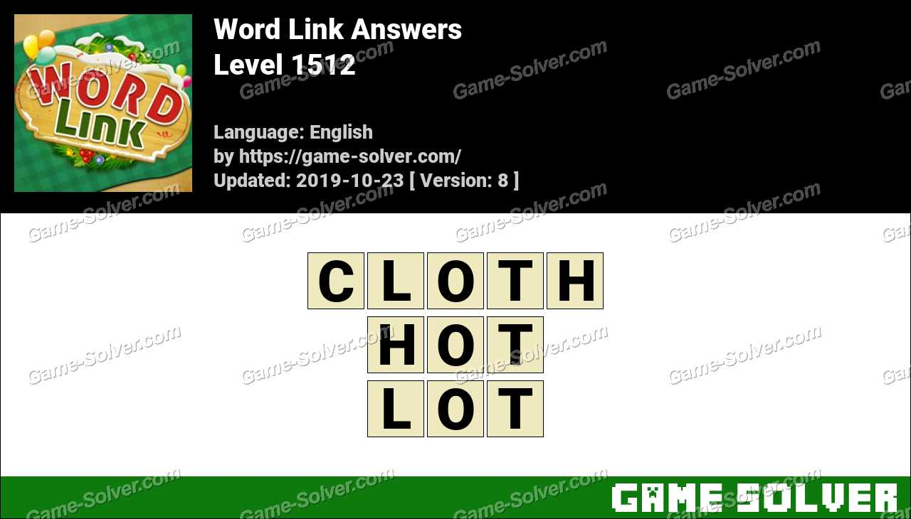 Word Link Level 1512 Answers