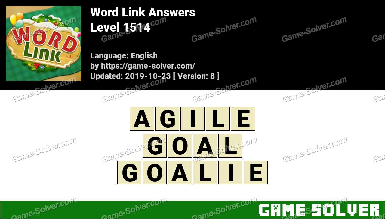 Word Link Level 1514 Answers
