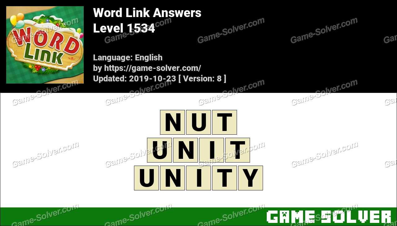 Word Link Level 1534 Answers