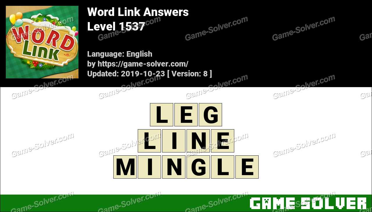 Word Link Level 1537 Answers