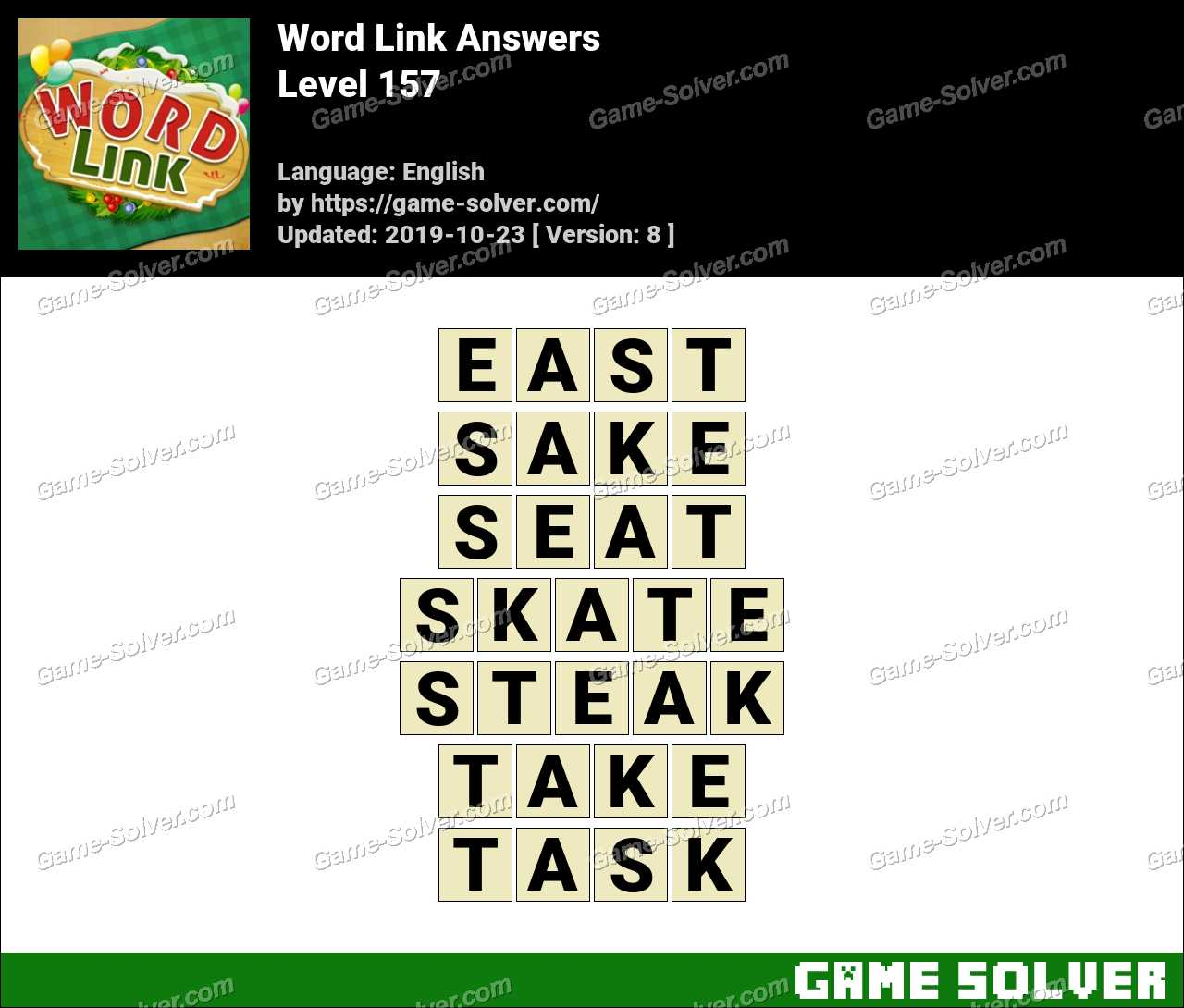Word Link Level 157 Answers
