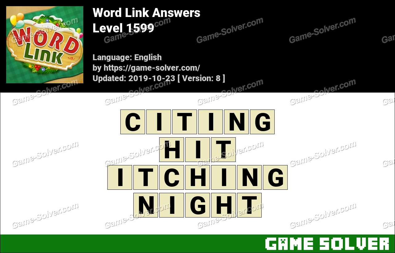 Word Link Level 1599 Answers